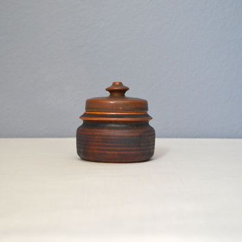 Vintage Arabia of Finland Kaarna Brown Lidded Sugar Designed by Ulla Procope
