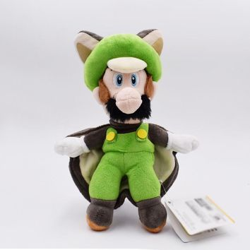 Super Mario party nes switch 23cm  Plush Toys Musasabi Flying Squirrel Luigi Plush Toys Soft Stuffed Toys Figures Toy Plush Doll for Kids Gift AT_80_8