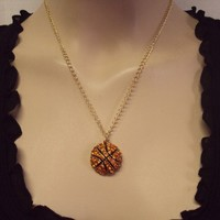Sports Bling Necklace - Basketball