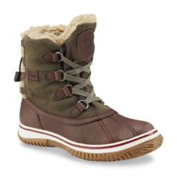 Women's Iceland Green/Brown Waterproof Winter Boot - Sears