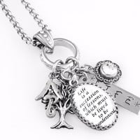 Inspirational Quote Necklace - Life is a lesson