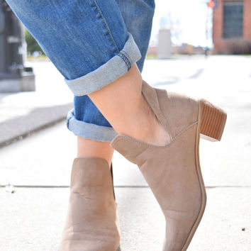Western Winds Taupe Bootie