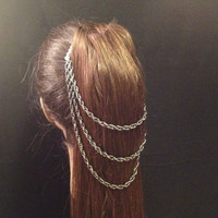 3 strand ponytail chains
