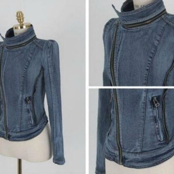 DCCKO03T NEW WOMEN'S DENIM COAT VINTAGE CLOTHES FASHION JACKET