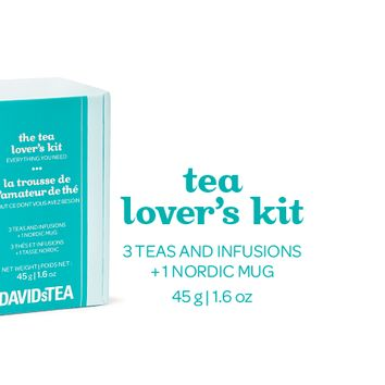 Tea Lovers Kit - Our Glass Nordic Mug And Three Of Our Most Popular Teas | DAVIDsTEA