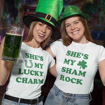 Shamrock and Lucky Charm Duo Shirts