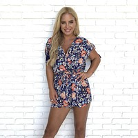 Purple Daze Floral Romper