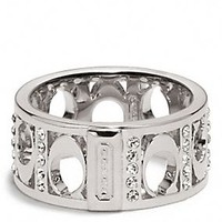 PIERCED SIGNATURE C PAVE BAND RING