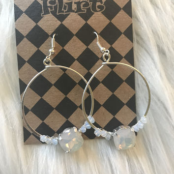Silver Wire Wrapped Hoops