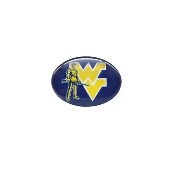 Snap Button 18mmX25mm NCAA West Virginia Mountaineers Charm Interchangeable Buttons Bracelet Basketball Fans Gift Paty Birthday