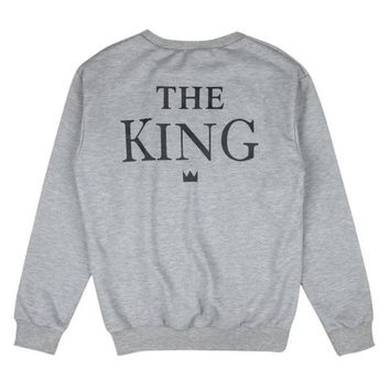 Couples Matching King Queen Long Sleeve T-shirt