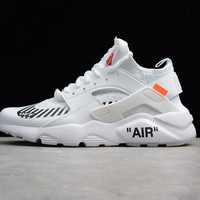 Best Deal Online OFF-White x Nike Air Huarache Ultra ID Men Women Running Shoes White