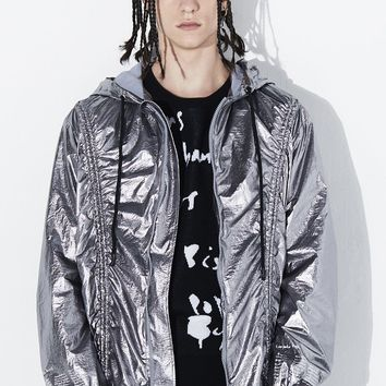 Metallic Drawstring Jacket