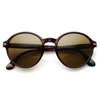 Retro Dapper Round Fashion Sunglasses 8905