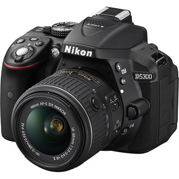 Nikon - D5300 DSLR Camera with 18-55mm VR Lens - Black