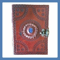 """""""God's Eye"""" Leather Latched  Journal"""