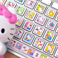 Keyboard Stickers - Hello Kitty Keyboard Button Stickers | CoolPencilCase.com