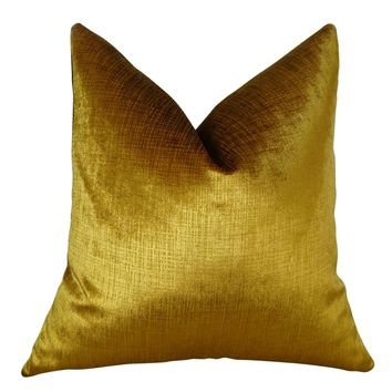 Plutus Lumiere Bronze Handmade Queen Throw Pillow