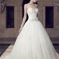 Casablanca Bridal 2158 Strapless Beaded Ball Gown Wedding Dress