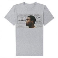 Childish Gambino Gray Tshirt For Women and men Size S M L XL XXL  ( You can take the photos you want on the T-shirt )