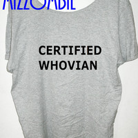 DOCTOR WHO inspired certified whovian geek nerd whovian flowy slouchy shirt off the shoulder regular and plus sizes available