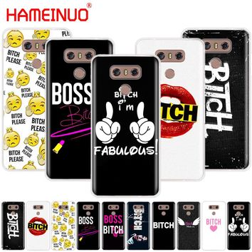 HAMEINUO Boss Bitch mode on pink case phone cover for LG G7 Q6 G6 MINI G5 K10 K4 K8 2017 2016 X POWER 2 V20 V30 2018