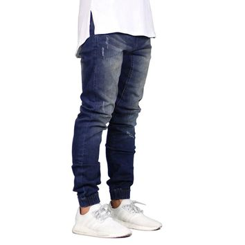 Fashion Men Jogger Jeans Stretch Hip Hop Joggers Denim Jeans For Men