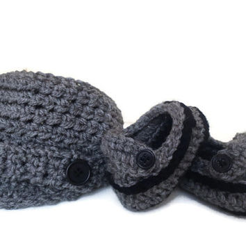 Crochet Baby Booties Baby Hat Newborn Photo Prop Baby Shoes Crochet Booties Baby Boy Booties Baby Girl Booties Baby Loafers Baby Newsboy Hat
