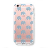 Elephant Pattern iPhone 6 Case iPhone 6s Plus Case Galaxy S6 Edge Clear Hard Case C139