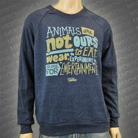 Mission Statement Blue Crewneck : PETA : MerchNOW