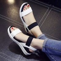 Hot Sale Women sandals women Summer shoes peep-toe flat Shoes Roman sandals mujer sandalias Ladies Flip Flops Sandal Footwear
