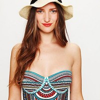 Free People Embroidered Bustier Top