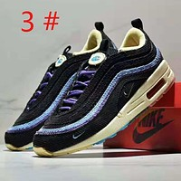 NIKE Air Max Sean Wotherspoon 97 Fashion new embroidery hook colorful contrast color leisure sports men shoes