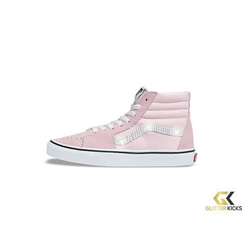 Womens Vans SK8-HI + Crystals - Blushing/True White