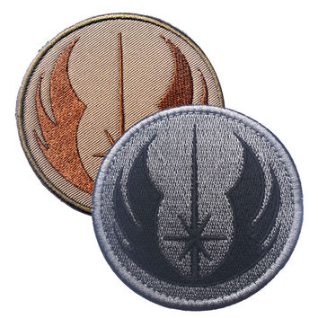 The new Jedi order STARWARS Star Wars embroidery the tactical military patches badges for clothes clothing HOOK LOOP 7.62CM
