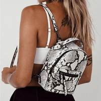 Peta & Jain | Zoe Backpack Snakeskin | Princess Polly