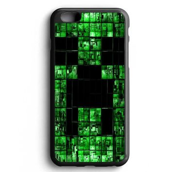 Custom Case Minecraft Creeper Face for iPhone Case & Samsung Case
