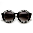 Women's Oversize Round Cross My Heart Hope To Die Sunglasses 9318