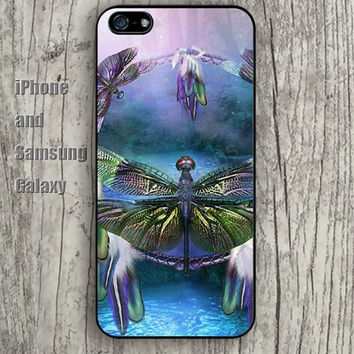 Dragonfly dream colorful iphone 6 6 plus iPhone 5 5S 5C case Samsung S3,S4,S5 case Ipod Silicone plastic Phone cover Waterproof