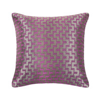 Mazy Purple Decorative Throw Pillow Cover