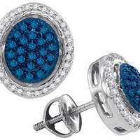 Diamond Fashion Earrings in 10k White Gold 0.42 ctw