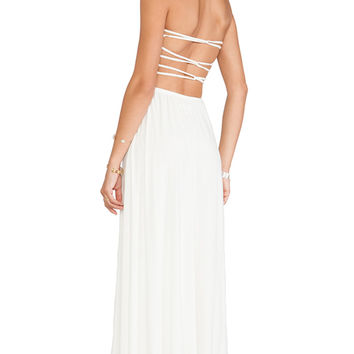 Tularosa Demi Strapless Maxi Dress in White