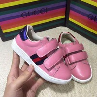Gucci Children's shoes Girls Boys Children Baby Toddler Kids Child Fashion Casual Sneakers Sport Shoes