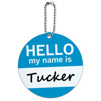 Tucker Hello My Name Is Round ID Card Luggage Tag