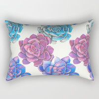Vibrant Succulents  Rectangular Pillow by haleyivers