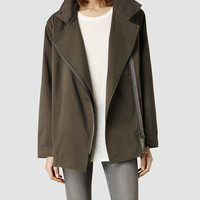 Womens Lance Jacket (Light Khaki) | ALLSAINTS.com
