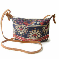 aztec boho crossbody bag personalized gypsy messenger bag tribal hippie purse monogram canvas cosmetic bag coachella bag gift for her