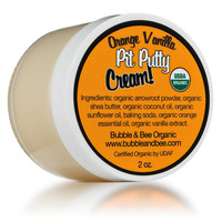 Orange Vanilla Pit Putty Organic Deodorant CREAM