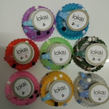 Hot Lokai Bracelet in Yellow, Green, Purple, Black, Orange, Camo, Pink, Clear, Blue, Red Silicone Bead Bracelet