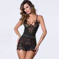 Lisacmvpnel Lace Spaghetti Strap Women Nightgown Deep V Hollow Plus Size Female Nightwear